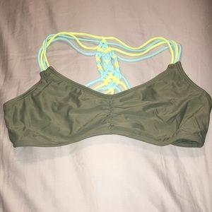 Green swim suit top